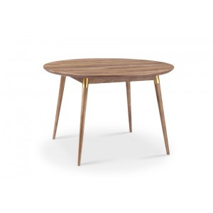 Moon Round Dining Table With Brass Tube